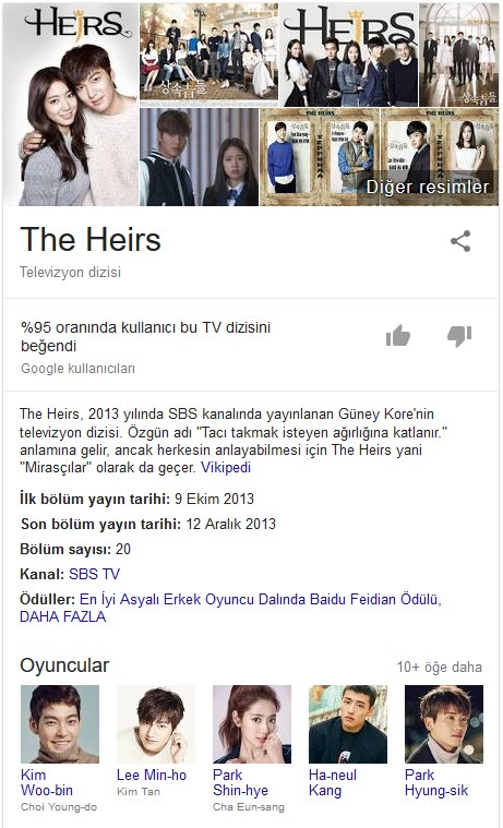 The Heirs kore dizi