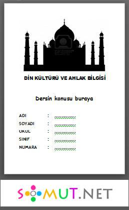 Din Kültürü Ödev Kapakları — Somut.NET